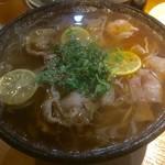 武 - 料理写真:半田麺のにゅう麺