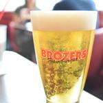 ブラザーズ - ハンバーガーには、やっぱりビールでしょ!