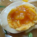 九州GTラーメン - 味玉はこんな感じです