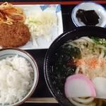 あわじ屋 - 本日のうどん定食450円
