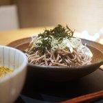 名古屋コーチン 鳥しげ - 名古屋コーチン正肉 つけ蕎麦