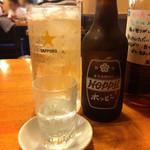 かめや別館 もつ焼 こがめ - ホッピーセット610円(2016.09)