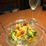56527246 - 秋刀魚の前菜。他にも美味しいものが沢山ありましたが美味しすぎて写真撮るの忘れました。笑