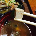 藤乃実 - お味噌汁の豆腐