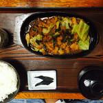 藤乃実 - 牛ホルモンスタミナ焼定食 900円