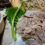 蕎麦 いち - 三田マルセ牛しゃぶ蕎麦 1500円
