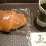デリフランス - 塩フランスパン・ブレンドコーヒー