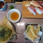魚屋 - 夏の限定メニューから天ざる寿司御膳