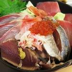 56537152 - 越後海鮮丼のアップ
