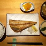 味処 藤の坊 - 縞ほっけ塩焼 ランチ ¥880