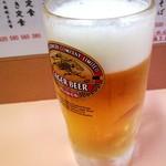 おる商店 - キリンラガーの生ビール