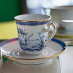 カフェ フラミンゴ - R.ジノリ牌(じるし)の咖啡碗(こおふィわん)
