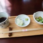 昭和屋 そば琳 - 板そばのつゆ&薬味