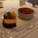 デジーノ - デザートはクレームブリュレとオレンジのケーキ