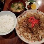 さの食堂 - 富士宮やきそば定食(800円)