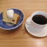 コーヒー 紗蔵 - ストレートコーヒーとシフォンケーキ