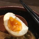 味噌蔵 - 玉子は半熟より少し固め!