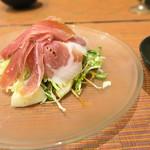 折衷旬彩 香月 - 生ハムと梨のサラダ