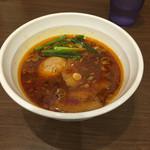 56549193 - 台湾つけ麺のつけ汁.+味玉、+チャーシュー4枚