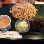 那須家 宗庵 - くるみ汁そば(\730)麺大盛り(+\200)