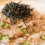 えん - 2016.9 お食事 じゃこと枝豆の炒め飯