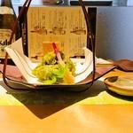 酒彩 奏 - 鱧の抹茶衣上揚げ(1,100円)