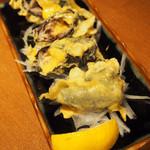 あらばしり - 白身魚とチーズのくるくる磯部揚げ