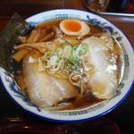 麺場くうが? - エソ煮干しワイド麺 700円