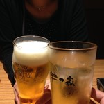 羊の家 - H.28.9.24.昼 ハイボール 390円税込 vs ビール 500円税込 de 乾杯♪