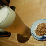 山せみ - 生ビール&お通し