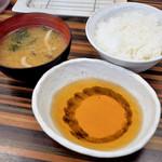 まん福 - ご飯と味噌汁と天つゆ