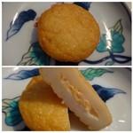 玖子貴 - ◆明太小丸(140円)・・中に少し「明太子」が入っています。少量ですので明太子風味には欠けますね。