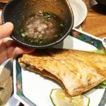 魚と肴 - カワハギ唐揚げ おろしポン酢。