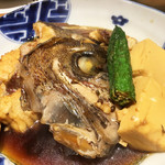 魚と肴 - 鯛のあら炊き。