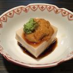 松もと - 胡麻豆腐の海胆載せ