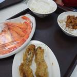 陳家蚵捲 - 牡蠣巻(55元)と海老(100元)と白米(10元)と肉ご飯(15元)