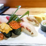 寿司 高瀬 - 海老の笹の葉
