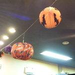 KABOCHA - 天井にはカボチャのオーナメント☆