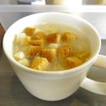 まんぷくステーキ&ハンバーグ ニクカ - 食べホのスープ
