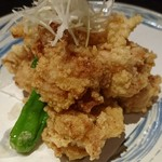 個室×鶏料理 鶏こまち さかいや - 青森県産あべどりモモ肉の塩ザンギ