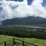 八丈富士牧野・ふれあい牧場 - ふれあい牧場からの景色