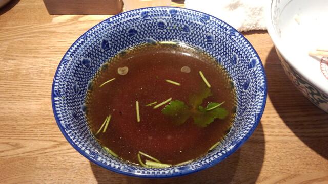 神田 勝本 - スープ割り(柚子、三つ葉入り)