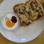 Cafe Lab - トースト(カレーチーズ)・530円