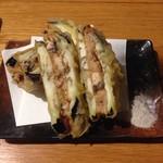 魚真 - 鰻と茄子はさみ揚げ