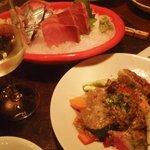 東京ワイン倶楽部 楽 - お刺身とバーニャカウダ。