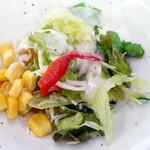 こだわり亭 - 海盛り丼(¥950)のセットのサラダ