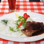 CafeBar Luz - イベリコ豚ロース肉のステーキプレート