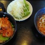 歓会門 - 煮付け定食(木灰そば付) ¥550(税込)