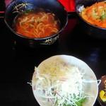 歓会門 - かつ丼定食(木灰そば付) ¥550(税込)