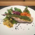 56589619 - 前菜(鶏むね肉の香草パン粉焼き)